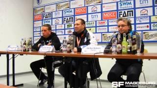 Pressekonferenz - 1. FC Magdeburg gegen 1. FC Lok Leipzig - www.sportfotos-md.de