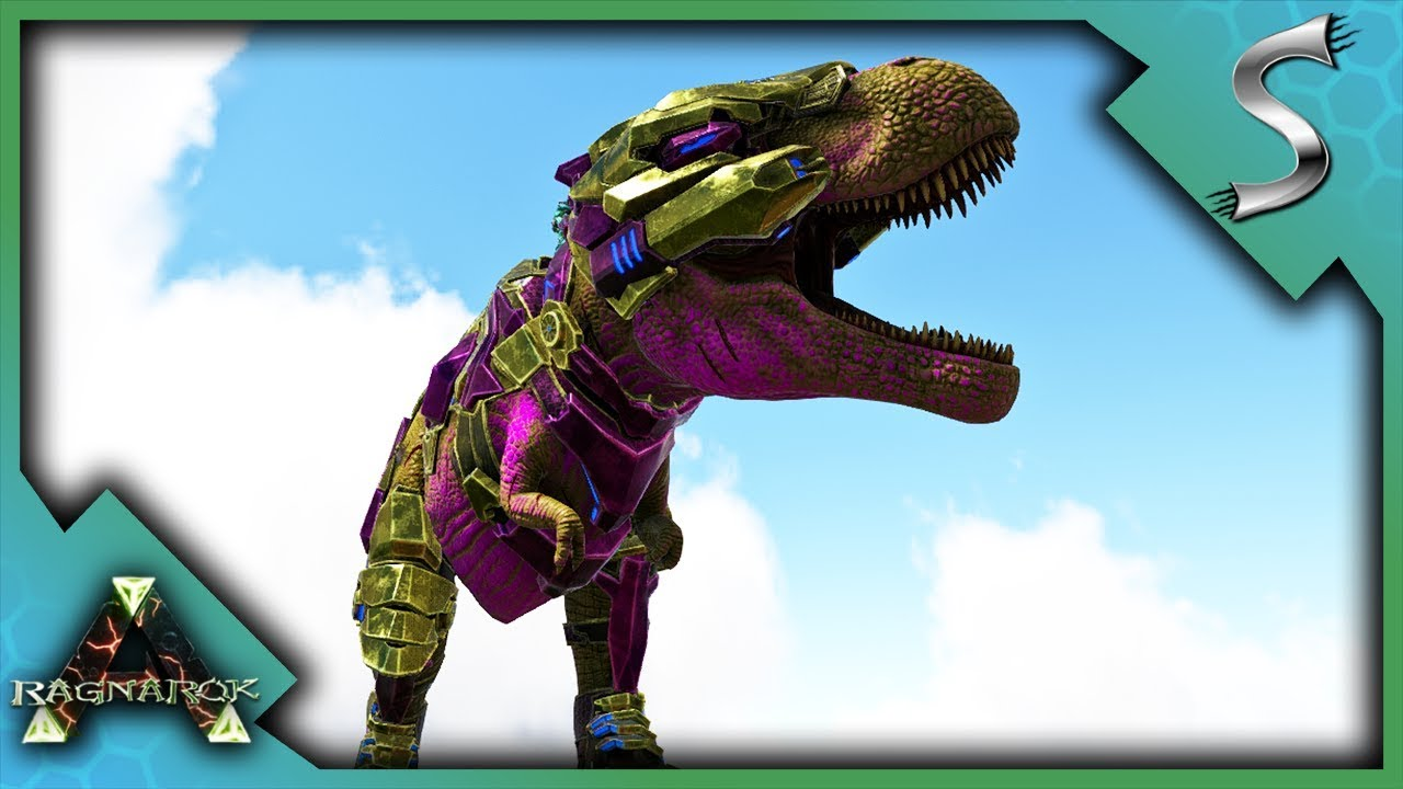 FULLY MUTATED REX! TEK REX ARMOR VS WYVERNS! - Ark: RAGNAROK [DLC