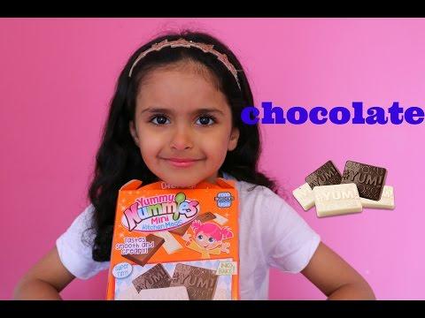 Yummy Nummies candy Bar Maker Mini Milk and White Chocolate