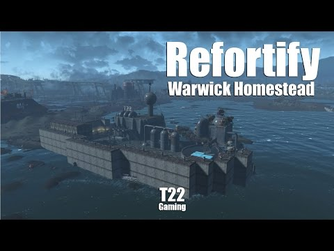 Let's Play Fallout 4 - Refortify Warwick Homestead (Live Stream)