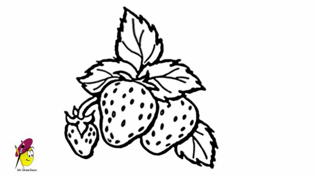 Strawberry  Fruits And Vegetables  Easy Drawing  How To Draw Strawberry