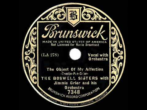 1934 Boswell Sisters - The Object Of My Affection