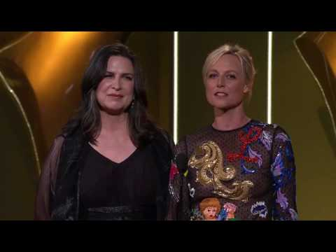 Pamela Rabe, Danielle Cormack and the cast & crew of Wentworth at the AACTA Awards 2016