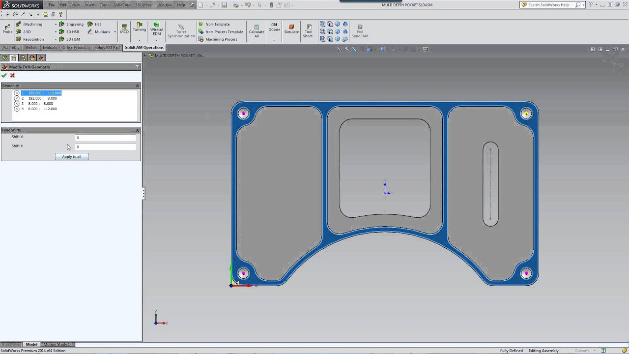 Drill Geometry: Modify Option