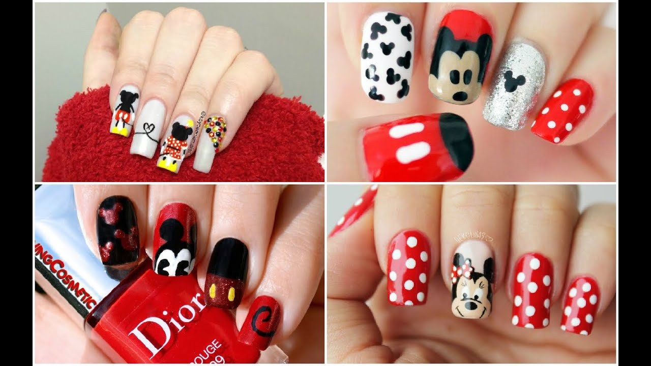 MICKEY MOUSE NAILS | Uñas de Mickey Mouse - #Fashion #Nails #Moda ...