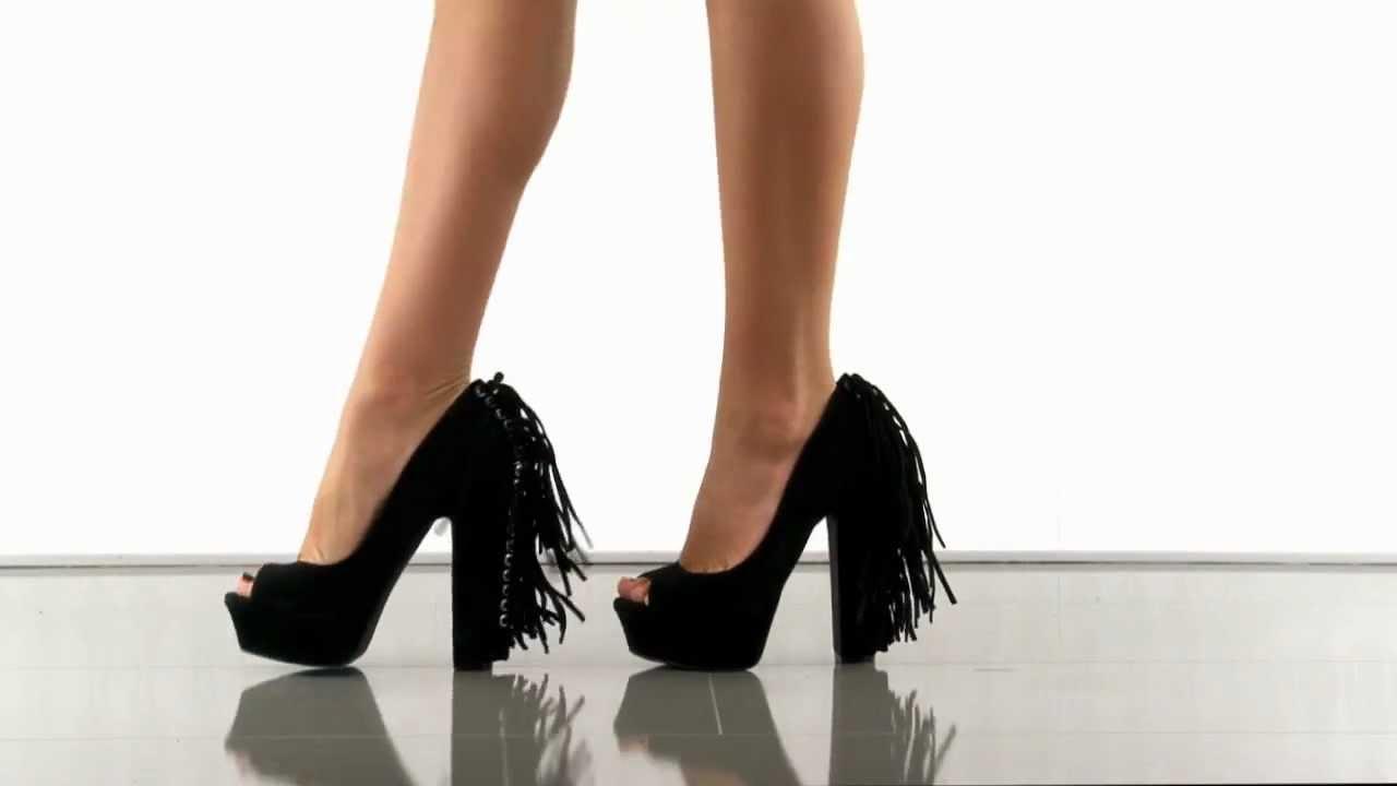 d6acbdd031e Perlah in Black Suede Bebe Shoes - YouTube