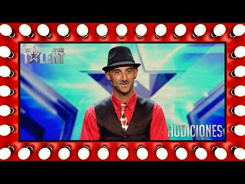 He can do magic with simple rubber bands!    Auditions 4   Spain's Got Talent 2018