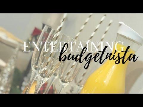HOW TO ENTERTAIN ON A BUDGET| Entertaining Budgetnista