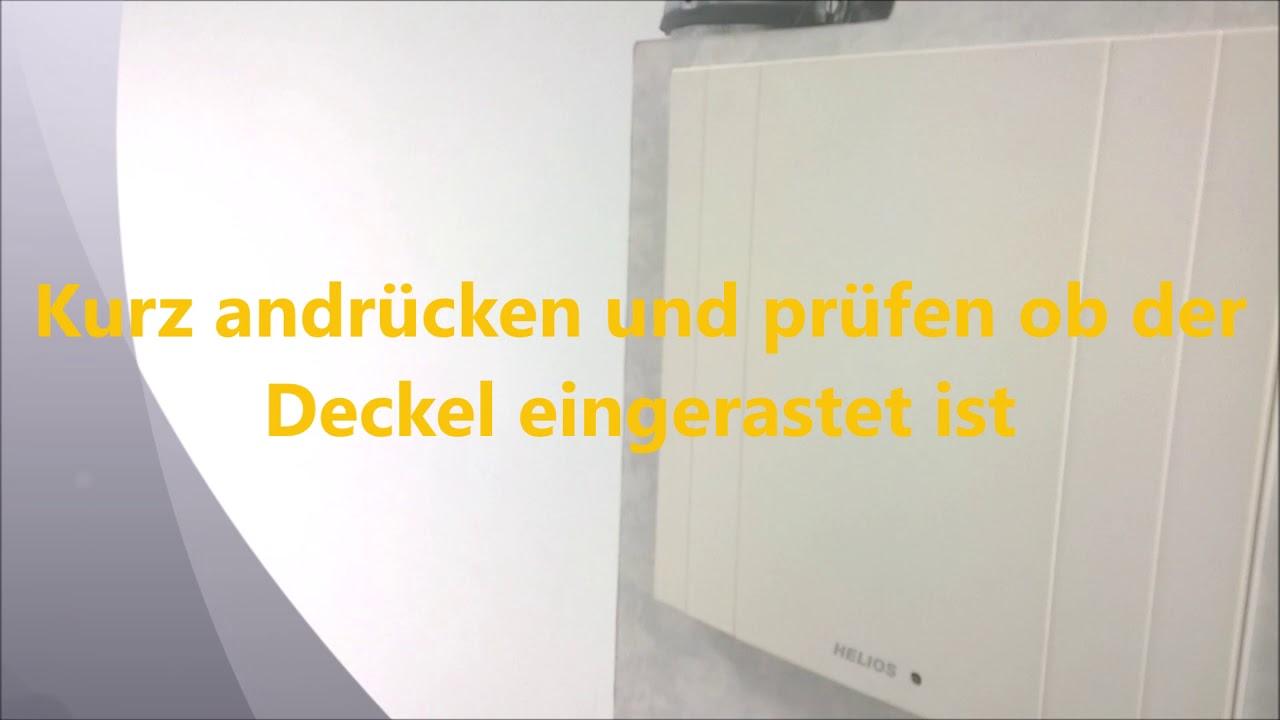 Filterwechsel Filtertausch Bei Helios Badlufter Kuchenlufter Ventilator Els Ve Ersatzluftfilter Youtube
