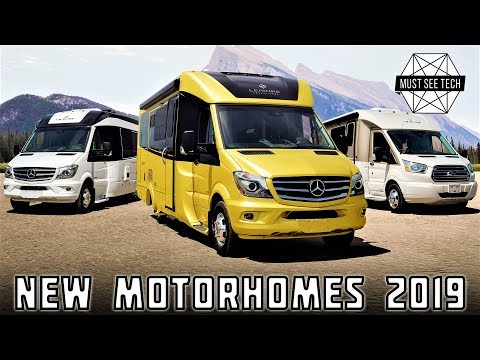 8 New Motorhomes and Updated RVs for Camping Enthusiasts' Needs in 2019