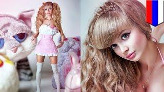 """ロシアの""""リアル・バービー人形""""こと、美人モデル、アンジェリカ・ケノ..."""