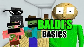Monster School BALDI S BASIC CHALLENGE Minecraft Animation