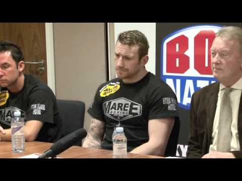 UNCUT! GEORGE GROVES v KENNY ANDERSON PRESS CONFERNCE / iFILM LONDON (JAN 2012)