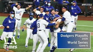 Dodgers defeated the Tampa Bay Rays in Game 6 of the World Series
