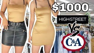 ARMANDO 1 OUTFIT CON $1000 EN C&A VS $1000 EN HIGHSTREET / ME ROBARON UNA BLUSA :(