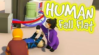 Vier YOUTUBER spielen mit STROM | Human Fall Flat thumbnail
