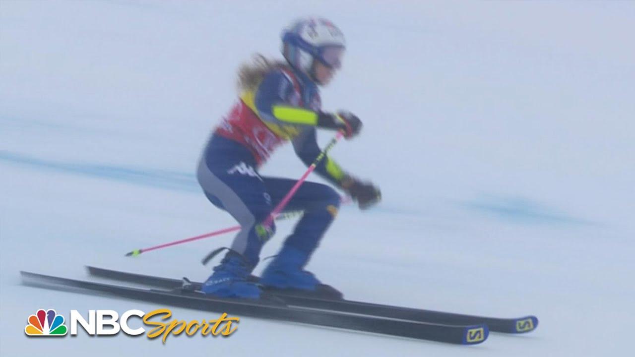 Marta Bassino Beats Petra Vlhova For Courchevel Giant Slalom Victory Nbc Sports Youtube