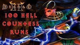 Diablo 2: 100 Hell Countess Runs - Magic Find Results