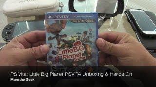PS Vita - Little Big Planet PSVITA Unboxing & Hands On