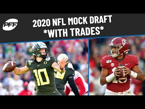 PFF 2020 NFL Mock Draft with TRADES   PFF