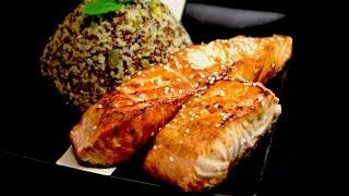 Quinoa con salmon