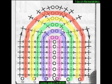 схема лифа купальника крючком