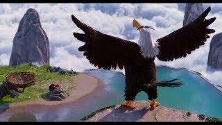 """MIGHTY EAGLE Pees"" scene Red finds the mighty eagle ANGRY BIRDS2 FULL MOVIE SCENE"