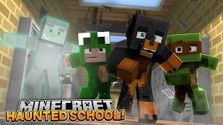 Minecraft SCHOOL - LITTLE LIZARD HIGH SCHOOL IS HAUNTED - donut the dog minecraft roleplay