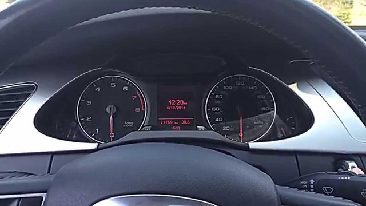 B8 Audi A4 Vcds Gauge Test Needle Sweep Youtube