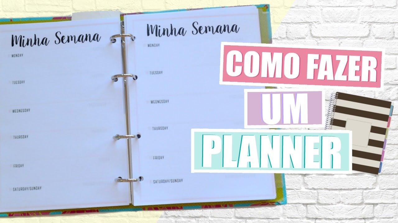 Como fazer um planner f cil barato youtube for Planner casa gratis
