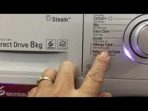 Hướng Dẫn Sử Dụng Máy Giặt Inverter LG 8kg