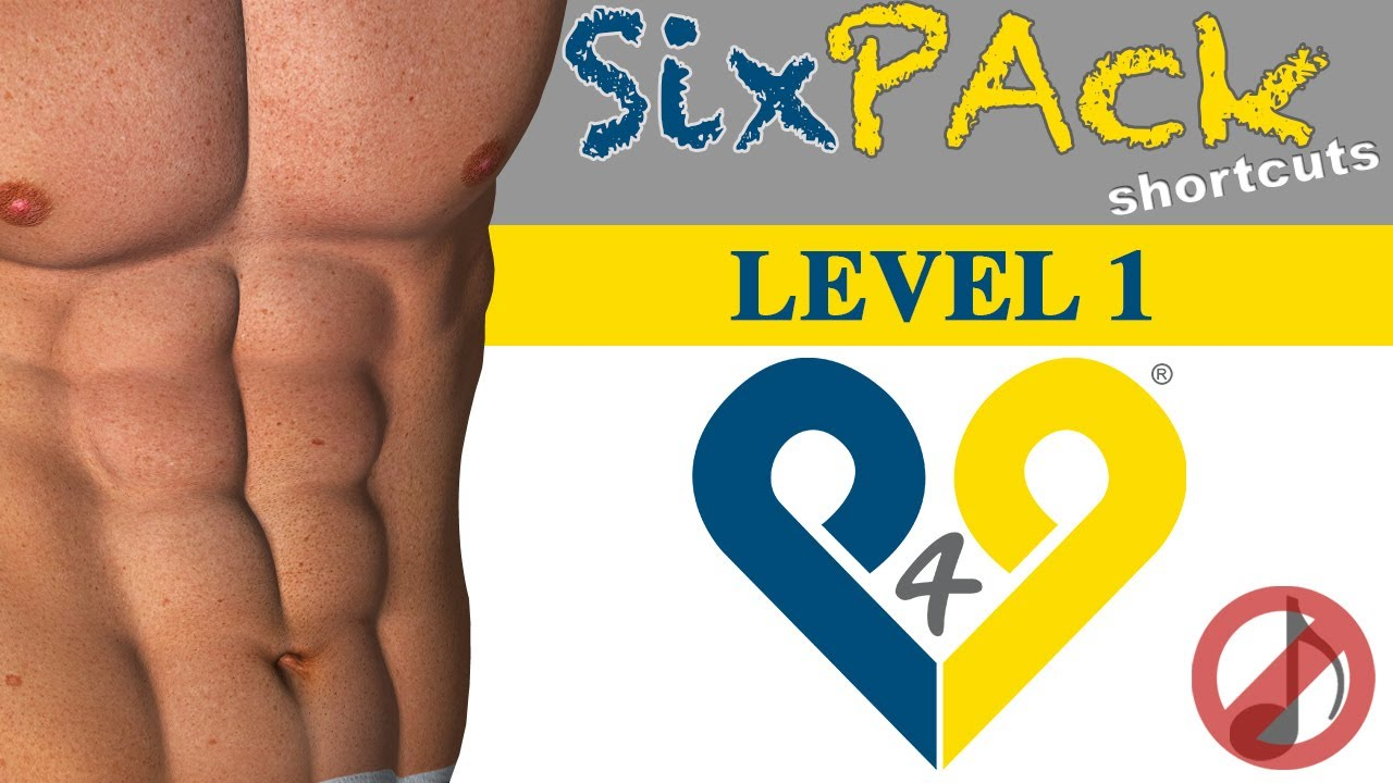 4 weeks Six Pack Abs workout - Level 1 - No Music