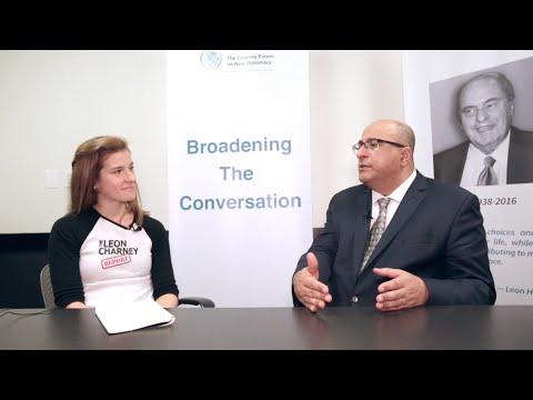 CRC Ambassador Grace Klein talks to Ambassador Ido Aharon on New Diplomacy