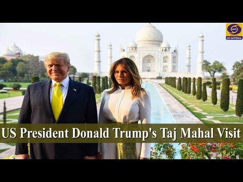 US President Donald Trump's Taj Mahal Visit -  LIVE from Agra