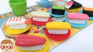 まほうのおすしやさん!お風呂で遊べる、色が変わるおままごとのおもちゃでごっこ遊び!