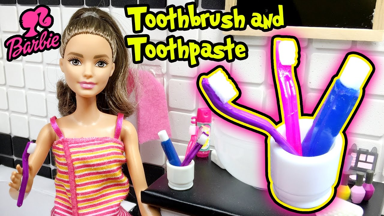 Diy Miniature Doll Toothbrush And Toothpaste Barbie Doll