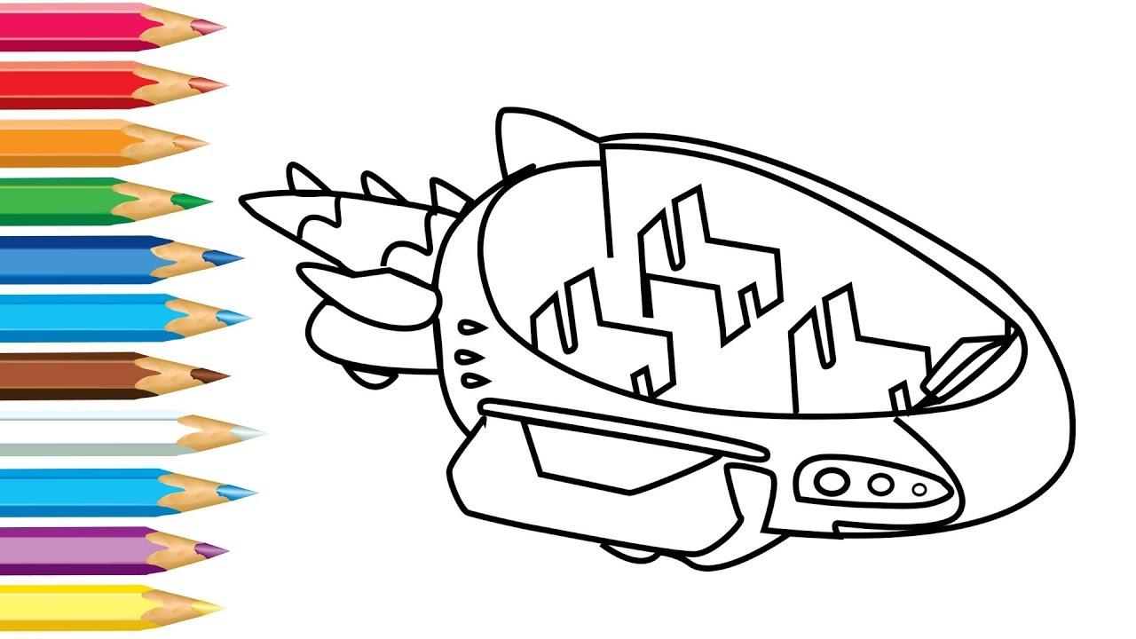 Gekko Car Drawing And Coloring Pj Masks Gekko Vehicle For Kids