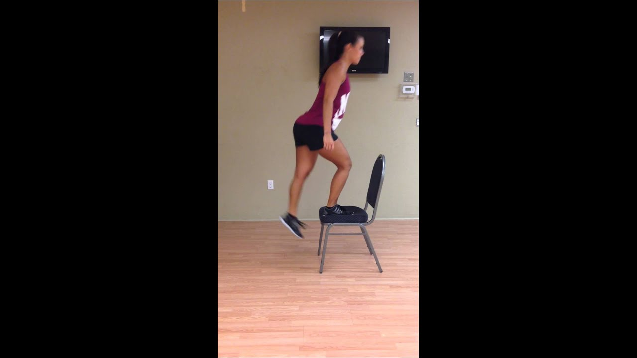 Step up onto chair