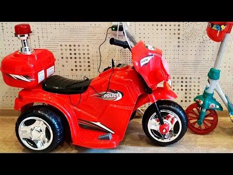 Kreiss электромобиль трехколесный скутер \ полицейский мотоцикл \ распаковка и испытания