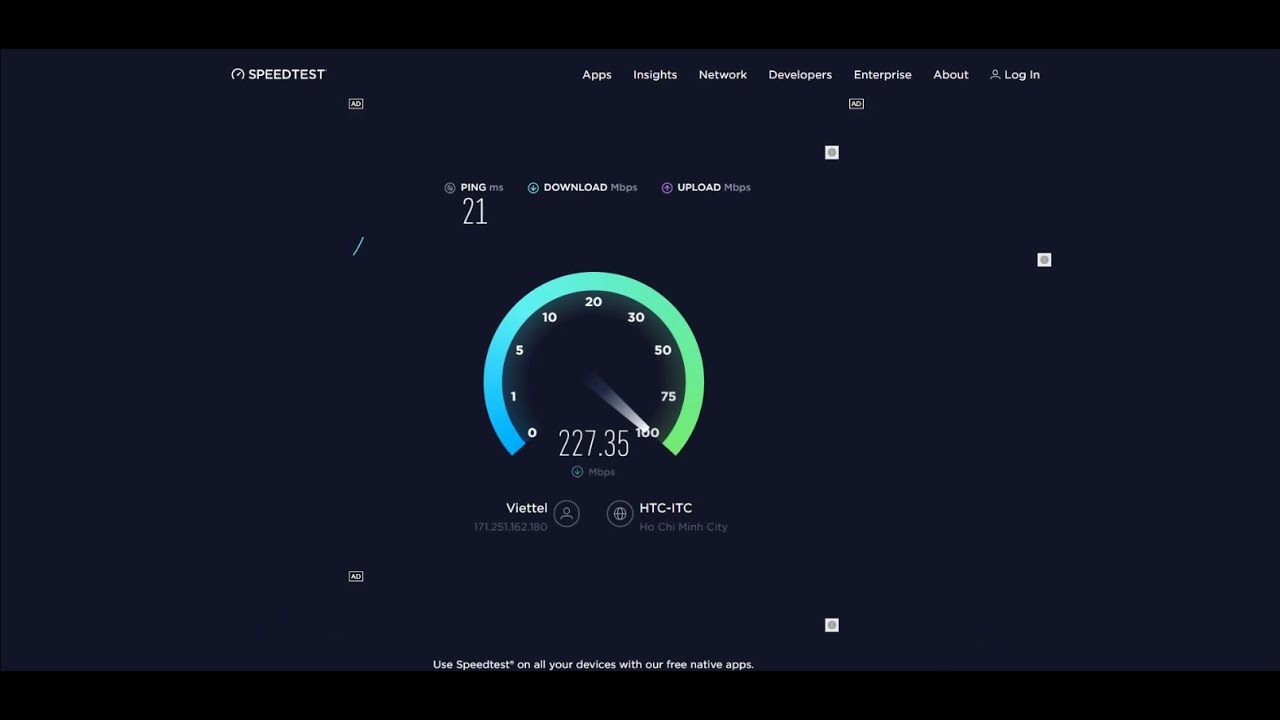 Test Tốc Độ Thực Tế Internet Viettel Gói 150Mbps ...