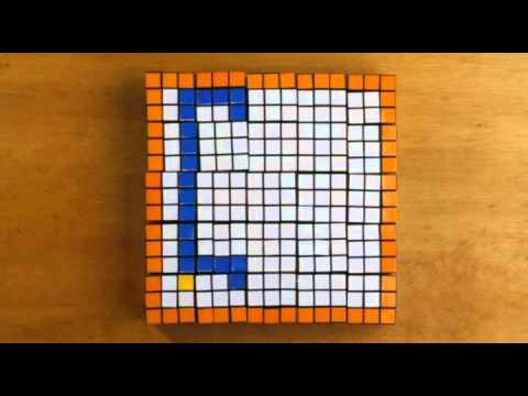 Stop Motion Rubik's Cube - Snake Game