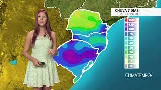 Confira o acumulado de chuva para os próximos dias no Brasil