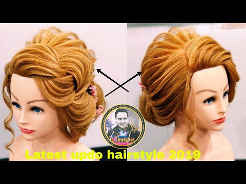 Latest international updo hairstyle 2019/ latest western  messy bun hairstyle / messy bun hairstyle