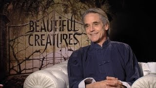 Jeremy Irons - Beautiful Creatures Interview HD