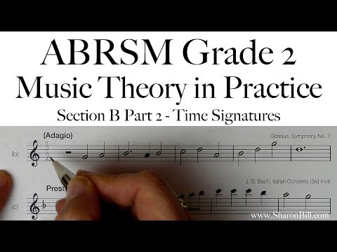 ABRSM Grade 2 Music Theory Section B Part 2 Time Signatures with Sharon Bill