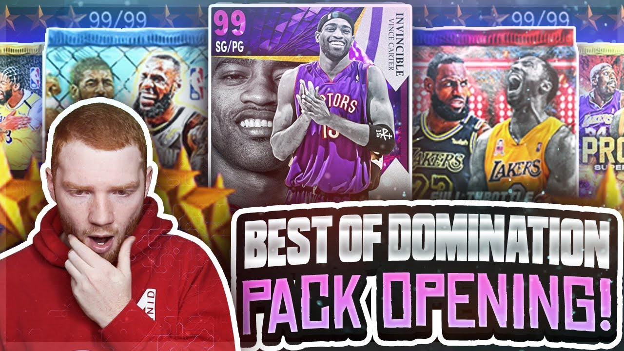 Opening ALL *BEST OF DOMINATION* Reward PACKS!! Free INVINCIBLE Card!! (NBA 2K21 MyTeam)