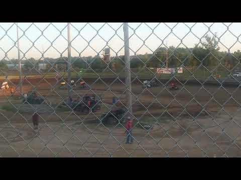 7D Jr Sprint Heat Race Springs Southern Illinois Raceway 7/15/17