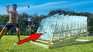 How Many Glass Windows Stops a Golf Ball???