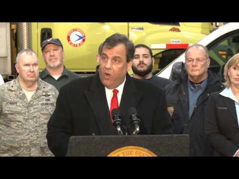 Governor Christie's Press Briefing In Newark On Snow Storm Preparedness