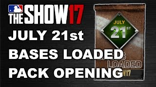 JULY 21ST BASES LOADED PACK OPENING | MLB 17 DIAMOND DYNASTY